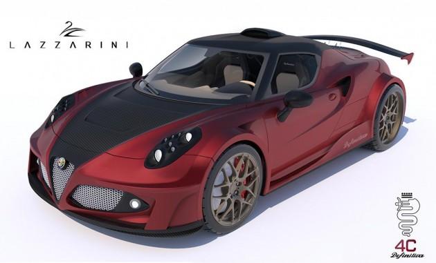 Lazzarini Design Alfa Romeo 4C-Ferrari V8