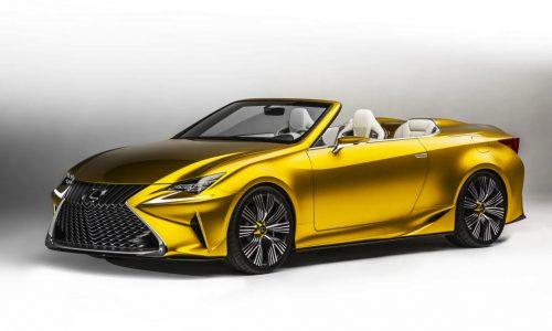 Lexus LF-C2 concept revealed, previews RC F convertible?