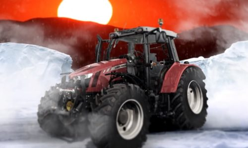 'Tractor Girl' on her way to South Pole in Massey Ferguson MF 5610