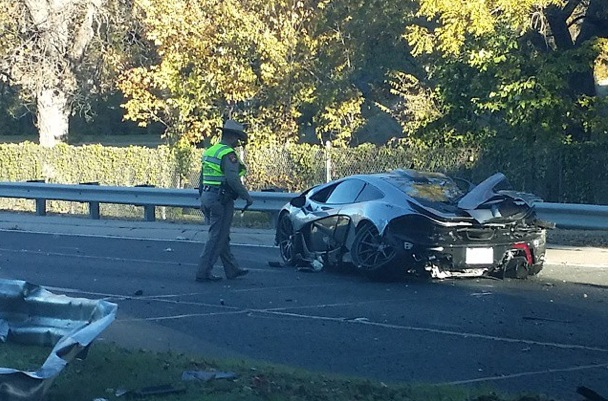 McLaren P1 crash Dallas