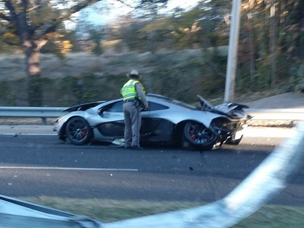 McLaren P1 crash Texas