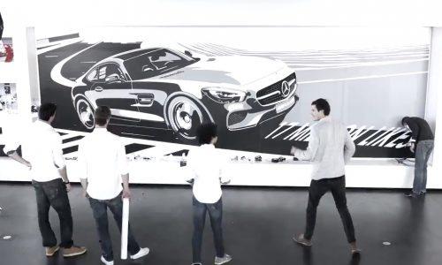 Mercedes-Benz artistically celebrates 17 million Facebook Fans