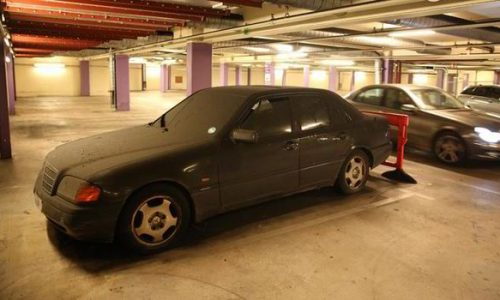 £14,235 parking fee for abandoned Mercedes C-Class left for 3 years