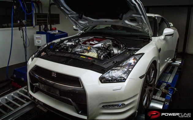 Powertune R35 GT-R COBB Stage 2 Plus dyno