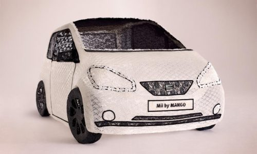 SEAT Mii made entirely of lace celebrates new model launch