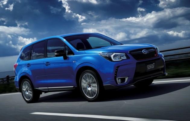 STI Subaru Forester tS driving
