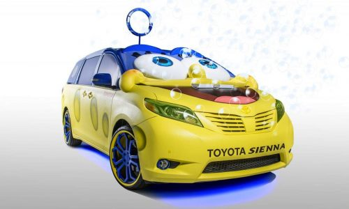 Toyota and Nickelodeon team up for SpongeBob Sienna