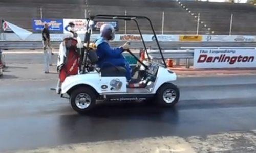 Video: World's fastest golf cart runs 12.2sec quarter mile