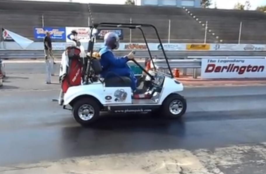 Video: World's fastest golf cart runs 12 2sec quarter mile