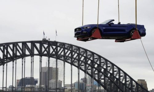 2015 Ford Mustang used for New Year's celebrations in Sydney