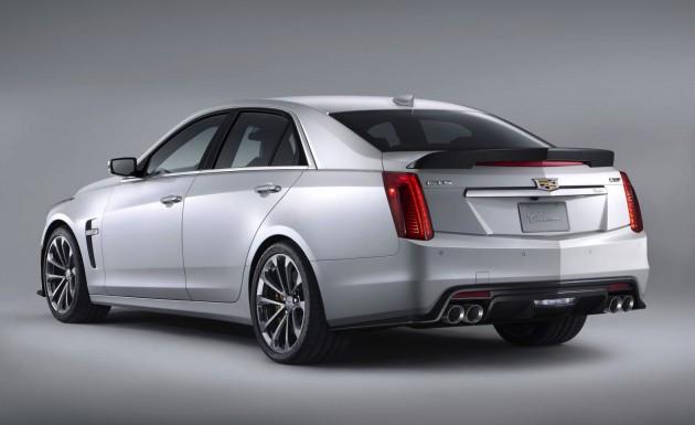 2016 Cadillac CTS-V-rear spoiler