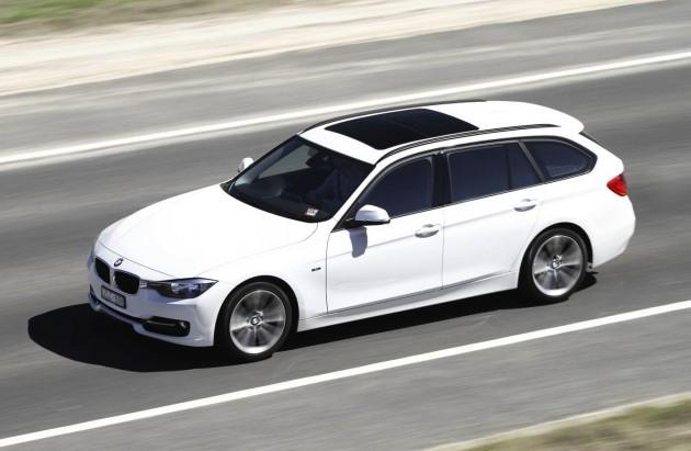 BMW 3 Series Touring-white