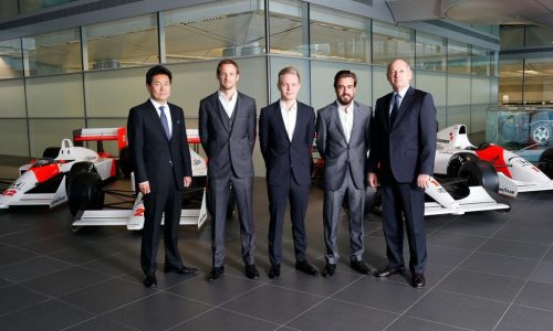 Fernando Alonso & Jenson Button confirmed for McLaren-Honda F1 team