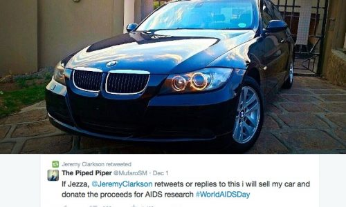 Man seeks Jeremy Clarkson's attention, will sell BMW for charity