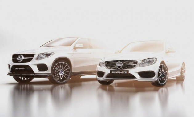 Mercedes-Benz C 450 and GLE 450 AMG Sport teaser