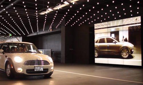 Porsche shows off Macan 'Magic Mirror' at Westfield shopping centre