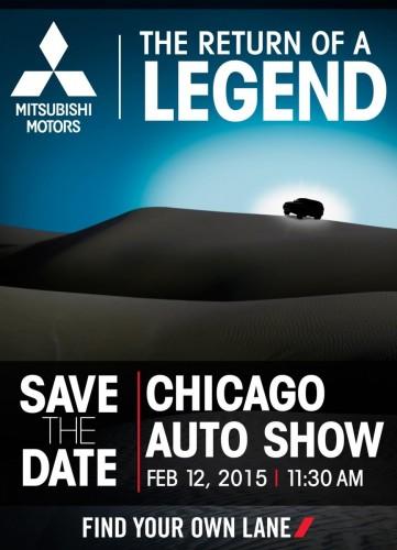 2015 Mitsubishi SUV Chicago auto show teaser