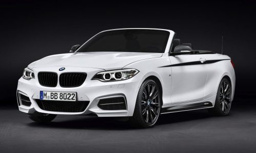 BMW 2 Series Convertible M Performance accessories revealed