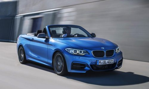 BMW 2 Series Convertible on sale in Australia from $54,900