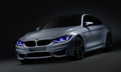 BMW M4 Concept Iconic Lights debuts with laser lights at CES