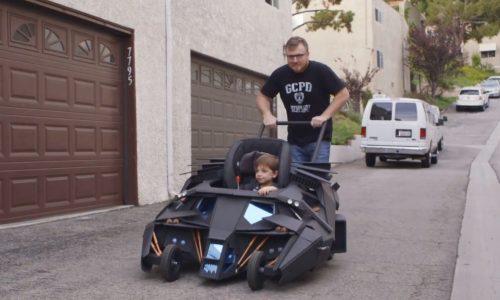 Web series 'Super-Fan Builds' makes Batmobile stroller