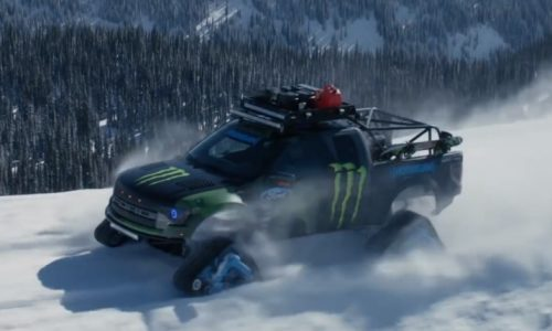 Video: Ken Block gets a new toy, a Ford F-150 RaptorTRAX