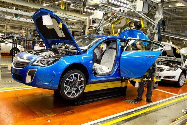 Holden Insignia VXR production-Germany