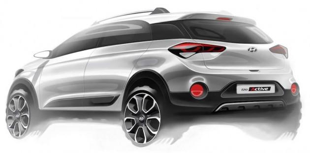 Hyundai i20 Active sketch-rear