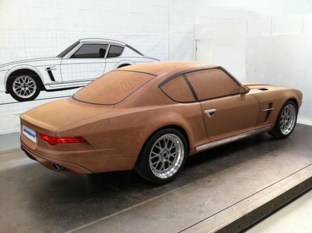 Jensen GT clay model-rear