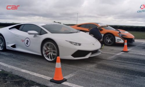 Lamborghini Huracan vs McLaren 650S in drag race (video)
