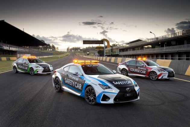 Lexus RC F V8 Supercars safety car
