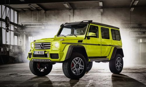 Mercedes-Benz G 500 4×4² revealed in further detail