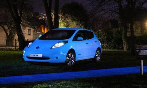 Nissan creates one-off glow-in-the-dark LEAF