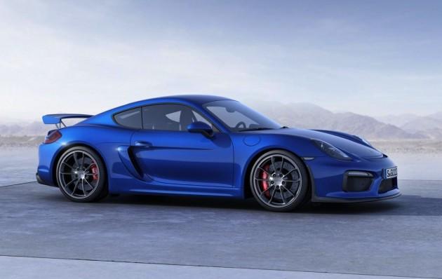 Porsche Cayman GT4-side