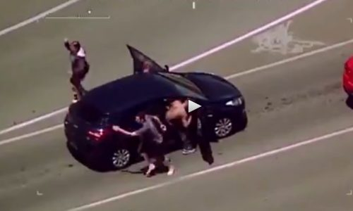 Armed men hijack 3 cars in QLD, police undergo high-speed chase