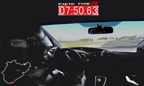 2015 Honda Civic Type R sets FWD Nurburgring lap record (video)