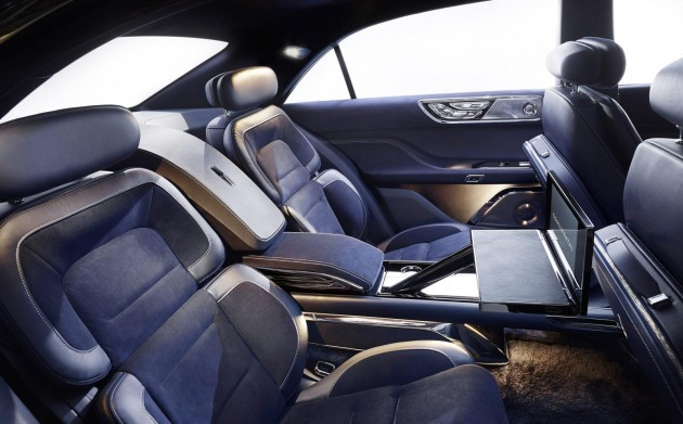 2015 Lincoln Continental Concept-rear seats
