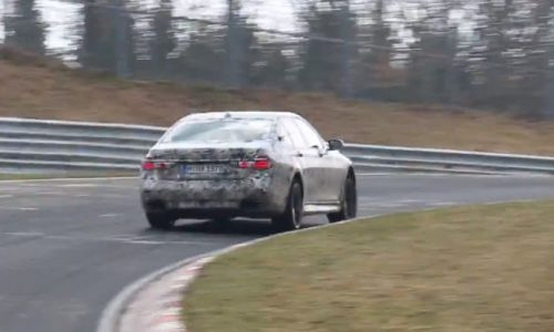 Video: 2016 BMW 7 Series spotted at Nurburgring, 'M750i'?