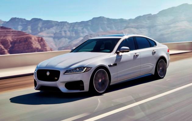 2016 Jaguar XF-driving