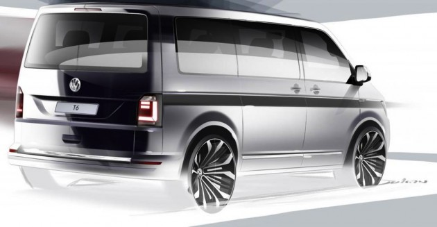 2016 Volkswagen Transporter T6 sketch