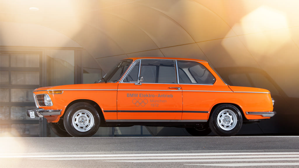 Video Bmw Details Its First Fully Electric Car The 1972 1602e