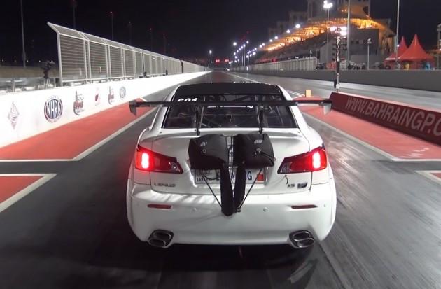 EKanooRacing Lexus ISF crash