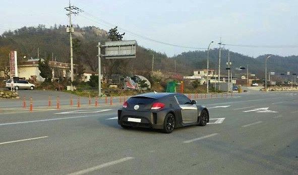 Hyundai mid-engine prototype-rear