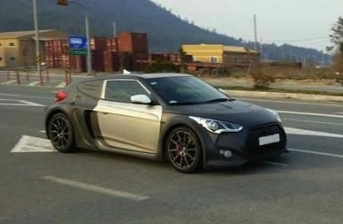 Mid-engine Hyundai Veloster prototype spotted