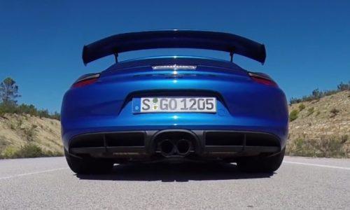 Video: Porsche Cayman GT4 0-240km/h & engine sound