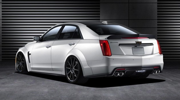 2016 Cadillac CTS-V Hennessey HPE1000-rear