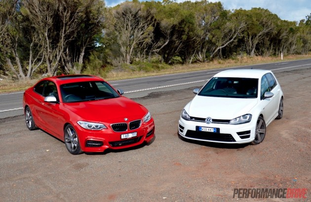 BMW M235i vs VW Golf R