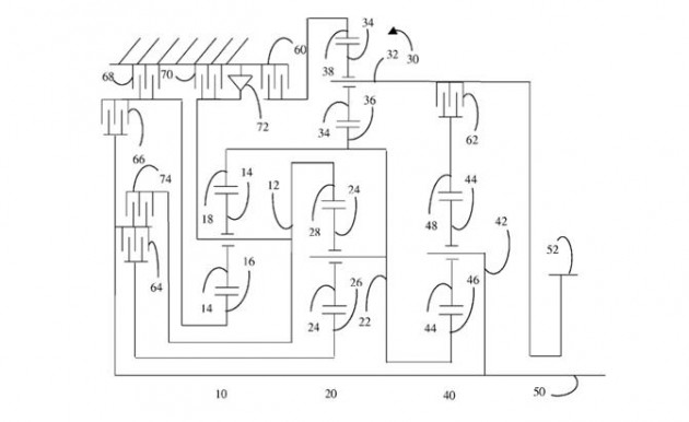Ford 11-speed auto patent