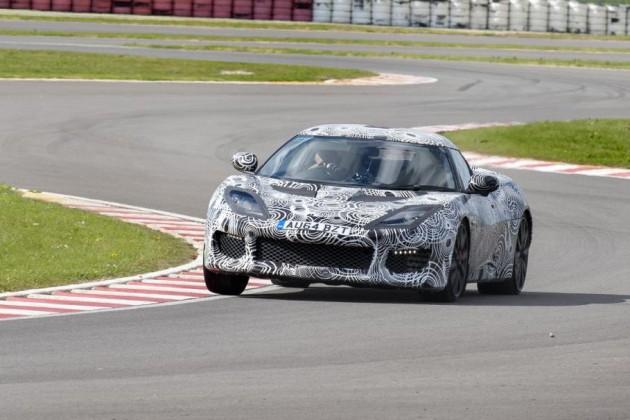 Lotus Evora 400 prototype-Hethel track