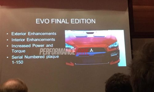 Mitsubishi Lancer Evolution X Final Edition confirmed for Australia